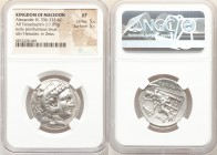 MACEDONIAN KINGDOM. Alexander III the Great (336-323 BC). AR tetradrachm (27mm, 17.05 gm, 10h). NGC XF 5/5 - 5/5. Early posthumous issue of Corinth, c...