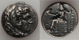 MACEDONIAN KINGDOM. Alexander III the Great (336-323 BC). AR tetradrachm (24mm, 16.92 gm, 2h). VF. Early posthumous issue of 'Babylon', ca. 323-317 BC...
