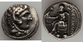 MACEDONIAN KINGDOM. Alexander III the Great (336-323 BC). AR tetradrachm (25mm, 16.78 gm, 6h). XF. Early posthumous issue of Tyre, dated Regnal Year 2...
