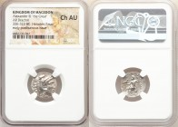 MACEDONIAN KINGDOM. Alexander III the Great (336-323 BC). AR drachm (17mm, 12h). NGC Choice AU. Posthumous issue of Magnesia ad Maeandrum, under Antig...