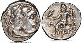 MACEDONIAN KINGDOM. Alexander III the Great (336-323 BC). AR drachm (18mm, 4.28 gm, 4h). NGC Choice XF 5/5 - 5/5. Posthumous issue of Magnesia, ca. 31...