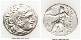 MACEDONIAN KINGDOM. Alexander III the Great (336-323 BC). AR drachm (17mm, 4.18 gm, 5h). About XF. Posthumous issue of Lampsacus, ca. 310-301 BC. Head...