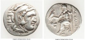 MACEDONIAN KINGDOM. Alexander III the Great (336-323 BC). AR drachm (18mm, 4.29 gm, 6h). Choice VF. Posthumous issue of Lampsacus, ca. 320-305 BC. Hea...