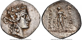 THRACE. Maroneia. Ca. after 146 BC. AR tetradrachm (34mm, 16.74 gm, 12h). NGC Choice AU 5/5 - 2/5 brushed, marks. Head of young Dionysus right, wearin...