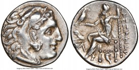 THRACIAN KINGDOM. Lysimachus (305-281 BC). AR drachm (18mm, 4.26 gm, 6h). NGC AU 5/5 - 5/5. Posthumous Alexander types issue of Abydus(?), ca. 310-297...