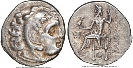 THRACIAN KINGDOM. Lysimachus (305-281 BC). AR drachm (18mm, 4.29 gm, 12h). NGC Choice XF 5/5 - 5/5. Early posthumous Alexander types issue of Colophon...