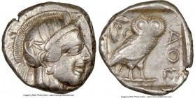 ATTICA. Athens. Ca. 440-404 BC. AR tetradrachm (24mm, 17.18 gm, 10h). NGC Choice VF 3/5 - 4/5, Full Crest. Mid-mass coinage issue. Head of Athena righ...