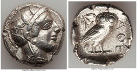 ATTICA. Athens. Ca. 440-404 BC. AR tetradrachm (25mm, 17.11 gm, 11h). Choice VF. Mid-mass coinage issue. Head of Athena right, wearing crested Attic h...