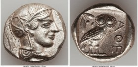 ATTICA. Athens. Ca. 440-404 BC. AR tetradrachm (26mm, 16.27 gm, 7h). Choice XF. Mid-mass coinage issue. Head of Athena right, wearing crested Attic he...