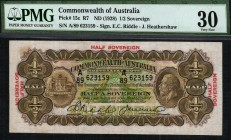 Australia - 0.5 Sovereighn - PMG 30 - (1928)