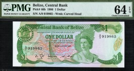 Belize - 1 Dollar - PMG 64EPQ - (1986)
