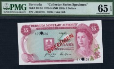 Bermuda - 5 Dollars - PMG 65EPQ - (1978-84) Collector Series Specimen
