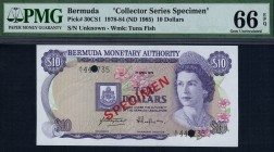 Bermuda - 10 Dollars - PMG 66EPQ - (1978-84) Collector Series Specimen