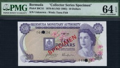 Bermuda - 10 Dollars - PMG 64EPQ - (1978-84) Collector Series Specimen