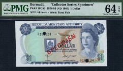 Bermuda - 1 Dollar - PMG 64EPQ - (1978-1984) Collector Series Specimen