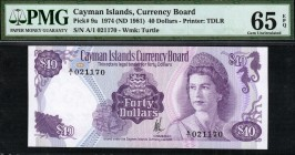 Cayman Islands - 40 Dollars - PMG 65EPQ - (1974)