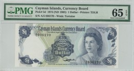Cayman Islands - 1 Dollar - PMG 65EPQ - (1974)