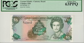 Cayman Islands - 5 Dollars - PCSG 63PPQ - (1996)