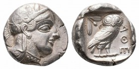 ATTICA.Athens.Circa 454-404 BC.AR Tetradrachm