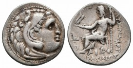 KINGS of THRACE.Lysimachos.305-281 BC.Cardia Mint.AR Drachm   Obverse : Head of Herakles to right, wearing lion skin headdress Reverse : ΒΑΣΙΛΕΩΣ ΛΥΣΙ...