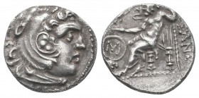 KINGS of MACEDON.Alexander III.336-323 BC.Chios Mint.AR Drachm