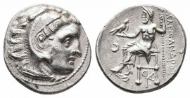KINGS of MACEDON.Alexander III.336-323 BC.Struck under Antigonos I.Colophon Mint.AR Drachm