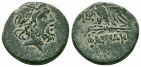 PONTOS.Pharnakeia .Mithradates VI.Circa 100-65 BC.Civic Issue.AE Bronze  Obverse : Laureate head of Zeus right Reverse : ΦΑΡΝΑΚΕΙΑΣ; eagle standing le...
