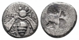 IONIA.Ephesos.500-420 BC.AR Drachm  Obverse : Bee Reverce : Quadripartite incuse square  Reference : SNG Kayhan I 140  Weight : 3.1 gr Diameter : 13 m...
