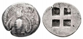 IONIA.Ephesos.500-420 BC.AR Drachm  Obverse : Bee Reverse : Quadripartite incuse square  Reference : SNG Kayhan I 140  Weight : 2.9 gr Diameter : 14 m...