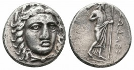 SATRAPS of CARIA.Pixodaros.Circa 341/0-336/5 BC.AR Didrachm  Obverse : Laureate head of Apollo facing, turned slightly right; chlamys fastened at neck...
