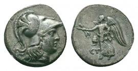 PAMPHYLIA.Side.Circa 205-100 BC.AR Drachm