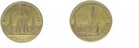 Bronzemedaille, 1894 Belgien. vergoldet, auf die Internationale Ausstellung in Anvers.. 64,91g Hsp. vz/stgl