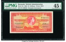 Bermuda Bermuda Government 10 Shillings 1.10.1966 Pick 19c PMG Choice Extremely Fine 45 EPQ.   HID09801242017  © 2020 Heritage Auctions | All Rights R...