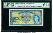 Bermuda Bermuda Government 1 Pound 1.10.1966 Pick 20d PMG Choice Uncirculated 64 EPQ.   HID09801242017  © 2020 Heritage Auctions | All Rights Reserved...