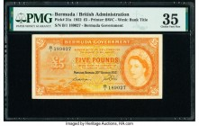 Bermuda Bermuda Government 5 Pounds 20.10.1952 Pick 21a PMG Choice Very Fine 35.   HID09801242017  © 2020 Heritage Auctions | All Rights Reserved