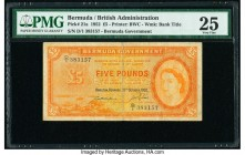 Bermuda Bermuda Government 5 Pounds 20.10.1952 Pick 21a PMG Very Fine 25.   HID09801242017  © 2020 Heritage Auctions | All Rights Reserved
