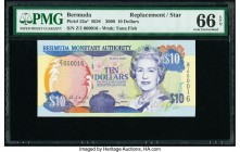 Bermuda Monetary Authority 10 Dollars 2000 Pick 52a* RD8 Replacement PMG Gem Uncirculated 66 EPQ.   HID09801242017  © 2020 Heritage Auctions | All Rig...