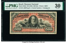 Brazil Thesouro Nacional 500 Reis ND (1885) Pick A243b PMG Very Fine 30.   HID09801242017  © 2020 Heritage Auctions | All Rights Reserved
