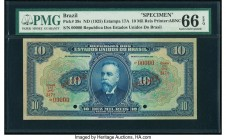 Brazil Thesouro Nacional 10 Mil Reis ND (1925) Pick 39s Specimen PMG Gem Uncirculated 66 EPQ.   HID09801242017  © 2020 Heritage Auctions | All Rights ...