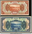 China Chinese Italian Banking Corporation 5; 10 Yuan 1921 Pick S254r; S255r Two Remainders Crisp Uncirculated.   HID09801242017  © 2020 Heritage Aucti...