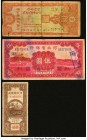China Group Lot of 6 Examples Very Good-Very Fine. Hole and pinholes on the Bank of Hopei 5 Yuan and edge tape on the Szechuan Provinicial Bank 100 Co...