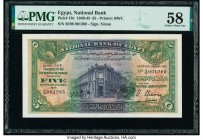 Egypt National Bank of Egypt 5 Pounds 10.1.1945 Pick 19c PMG Choice About Unc 58.   HID09801242017  © 2020 Heritage Auctions | All Rights Reserved