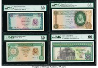Egypt Central Bank of Egypt 1; 5; 10; 20 Pounds 1961-67; 1961; 1961-65; 1976-78 Pick 37b; 38; 41; 48 Four Examples PMG Very Fine 30 (2); Choice Uncirc...