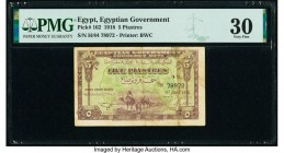 Egypt Egyptian Government 5 Piastres 1918 Pick 162 PMG Very Fine 30.   HID09801242017  © 2020 Heritage Auctions | All Rights Reserved