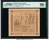 Finland Finlands Bank 100 Markkaa 1922 (ND 1939) Pick 65a PMG Gem Uncirculated 66 EPQ.   HID09801242017  © 2020 Heritage Auctions | All Rights Reserve...
