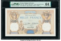 France Banque de France 1000 Francs 28.8.1930 Pick 79b PMG Choice Uncirculated 64. Pinholes.  HID09801242017  © 2020 Heritage Auctions | All Rights Re...