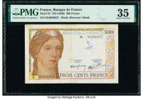 France Banque de France 300 Francs ND (1938) Pick 87 PMG Choice Very Fine 35. Pinholes, foreign substance and annotation.   HID09801242017  © 2020 Her...