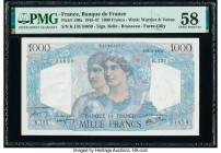 France Banque de France 1000 Francs 22.11.1945 Pick 130a PMG Choice About Unc 58.   HID09801242017  © 2020 Heritage Auctions | All Rights Reserved