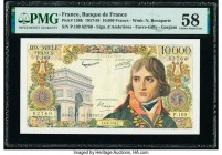 France Banque de France 10,000 Francs 6.3.1958 Pick 136b PMG Choice About Unc 58. Pinholes.  HID09801242017  © 2020 Heritage Auctions | All Rights Res...