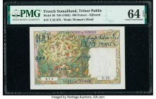 French Somaliland Tresor Public, Cote Francaise des Somalis 100 Francs ND (1952) Pick 26 PMG Choice Uncirculated 64 EPQ.   HID09801242017  © 2020 Heri...
